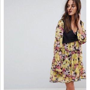 Alice FREE PEOPLE floral vest dress boho NWT L